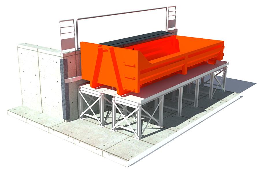 MPE equipement dechetterie réhausse sous cadre